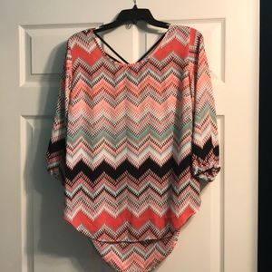 Patterned blouse from Maurice's